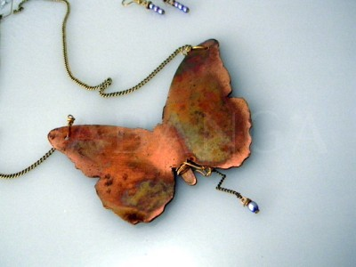 antiqued Copper Butterfly